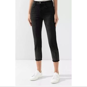 $328 Current Elliott The Vintage Cropped Slim Belm